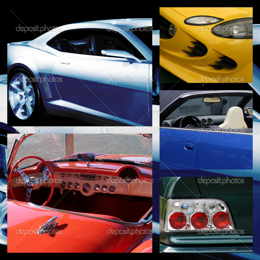 Isolated collection of different otsportivnyh Car  Stock Photo #4417403