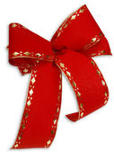 Red and gold gift ribbon — Stock Photo