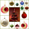 Set of 12 chrismas balls — Stock Photo