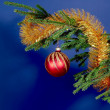 Christmas and New Year's background with ball — Stock Photo