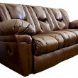Stock Photo: Brown leather sofa