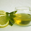 Green tea and lemon — Stok fotoğraf