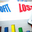 Profit, loss — Stock Photo