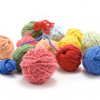 Ball of the colour threads — Stock Photo