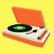 Portable record player — Stok fotoğraf