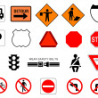 Traffic & Information Signs collection — Stock Photo