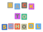 Voltar ao texto colorido de escola — Foto Stock