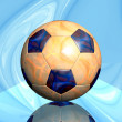 Soccer ball with fire texture — Stock Photo