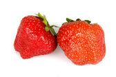 Dvě jahody — Stock fotografie