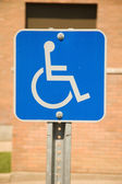 Handicap Parking sign — Stock Photo