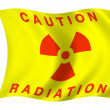 Radiation flag — Stock Photo