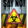 Say no! to biohazard — Stock Photo