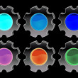 Vectorial glass buttons — Photo