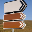 Stock Photo: Direction signs