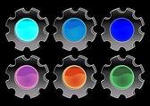 Vectorial glass buttons — Stock Photo