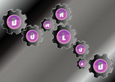 Botones de cristal vectorial — Foto de Stock