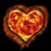 Lava heart — Stock Photo