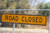 Road closed — Stock Photo