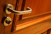 Golden handle and door — Stock Photo