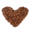 Stock Photo: Heart from coffee grains