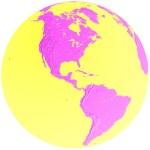 Green & blue globe - america — Stock Photo #5307006