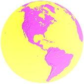 Green & blue globe - america — Stock Photo