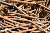 Plenty of rusty nails — Stock Photo