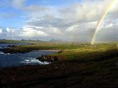 Regenbogen an Irlands Kueste — Stock Photo