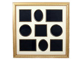 Picture frame for collection of 9 small pictures — Stock Photo