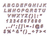 Beautiful Alphabet to cut out — Foto Stock