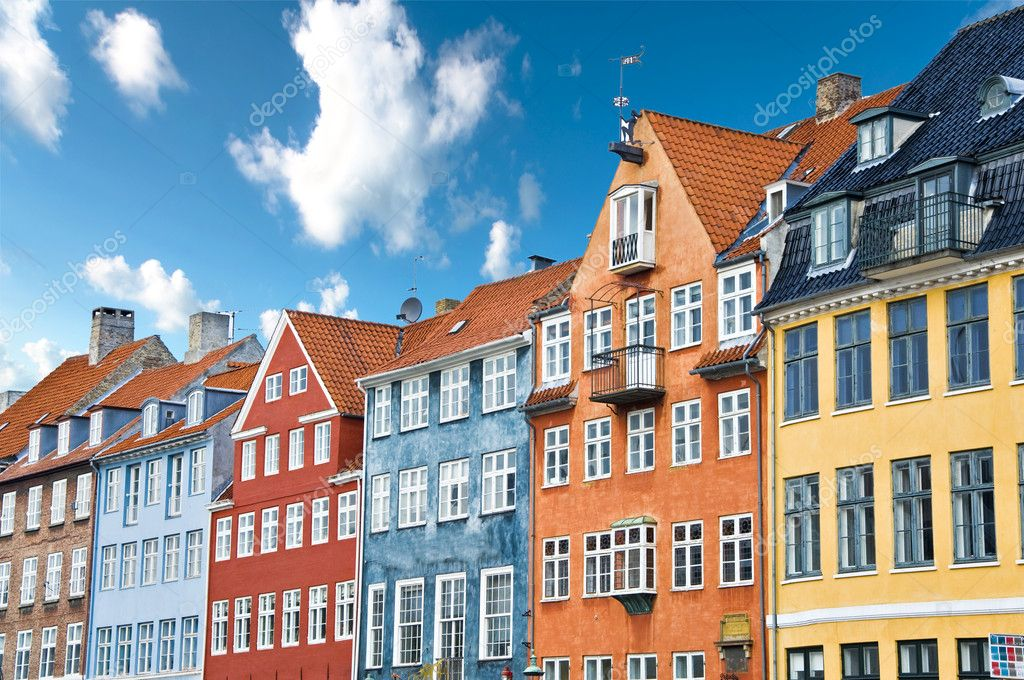 Colorful Danish Houses Near Famous Nyhavn Canal In