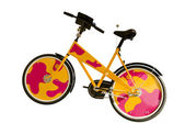 Funny colorful bicycle isolated on white background — Stock Photo