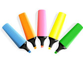 Set of markers — Stock Vector