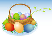 Easter basket — Stock Vector