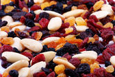 Nuts and fruits — Stock Photo