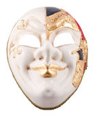 Venetian mask on a white background — Foto Stock