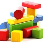 Wooden building blocks — Stock Photo #4443297