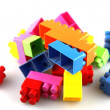 Toy building blocks — Stockfoto