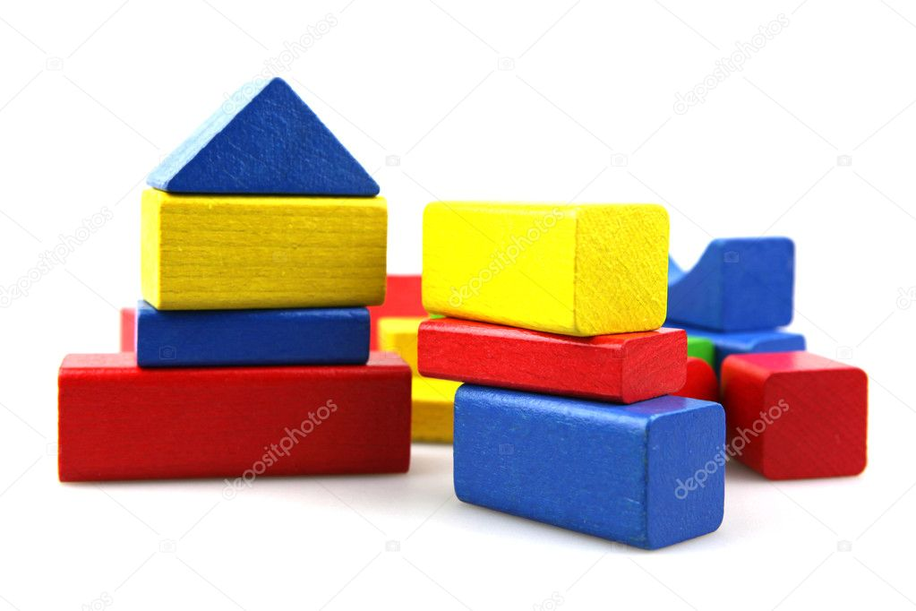 Wooden building blocks  Stock Photo #5222453