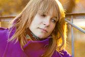 Portrét mladé ženy smutný — Stock fotografie