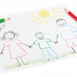 Children's drawing of happy family — Stock Photo #4673401
