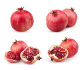 Set of juicy pomegranates — Stock Photo