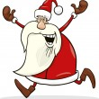 Running santa - Stock Vector