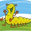 Funny caterpillar — Stock Vector