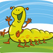 Royalty-Free Stock Obraz wektorowy: Funny caterpillar