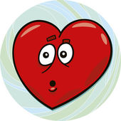 Startled heart — Stock Vector