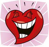 Laughing heart — Stockvector