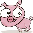 Stock Vector: Cute piggy