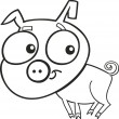 Cute piggy for coloring book — Stock Vector #4646121