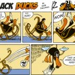 Black Ducks Comics episode 2 — Stock Vector